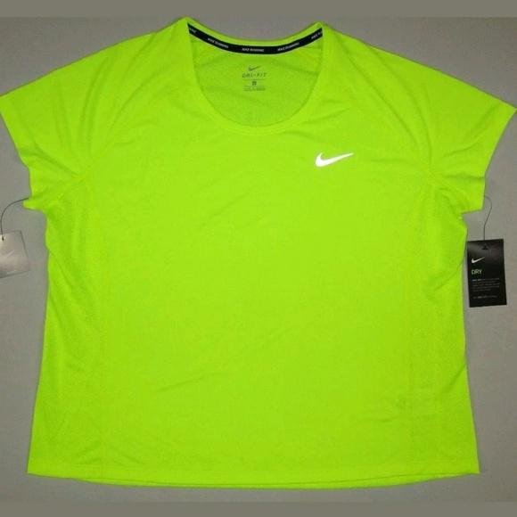 cb6bcd2c Nike Tops | Womens Miler Short Sleeve Running Shirt | Poshmark